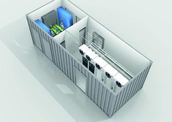 IKT – Gehäuse mit allen notwendigen Komponenten eines Rechenzentrums