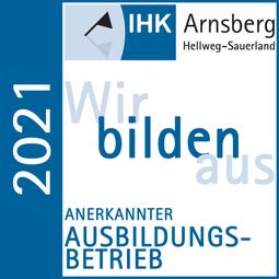 IHK Zertifikat anerkannter Ausbildungsbetrieb 2021